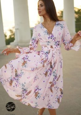Платье миди с запахом