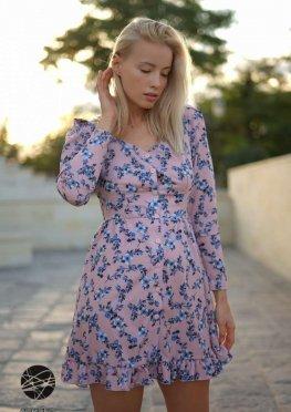 Платье мини с планкой на пуговицах