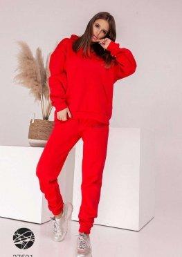 Утеплённый костюм из худи и джоггеров