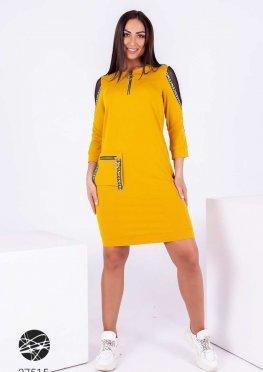 Платье мини с отделкой лентой