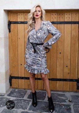 Платье с драпированным дизайном