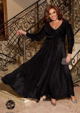 Платье макси из люрекса