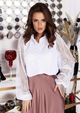 Блуза с рукавами из кружева