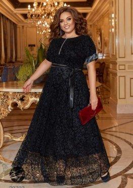 Платье макси с фактурным принтом