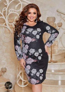 Ангоровое платье с цветочным принтом
