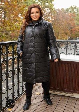 Стёганная куртка с воротом-стойкой