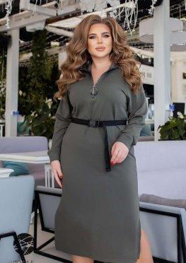 Платье-свитшот с боковыми разрезами