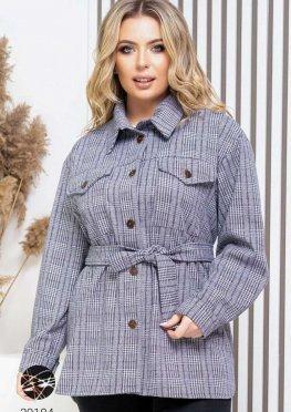 Кашемировая куртка-рубашка с принтом в клетку