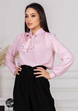 Блуза с принтом в горох