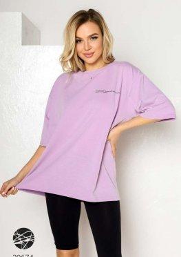 Оверсайз футболка с заниженной линией плеч