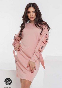 Платье-свитшот с отделкой лентой
