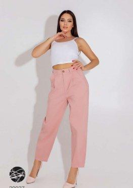 Джинсовые брюки-галифе с завышенной талией