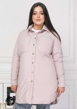 Куртка-рубашка с накладными карманами