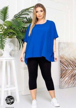 Шелковая блуза-оверсайз