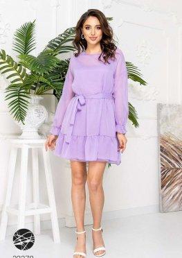 Шифоновое платье мини