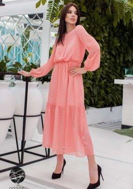 Шифоновое платье миди с принтом