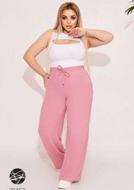 Льняные брюки-палаццо