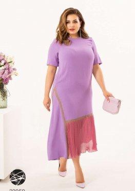 Сукня міді з плісированою вставкою