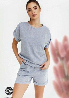 Трикотажний комплект з футболки та шортів