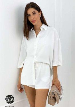 Комплект из рубашки с рукавами три четверти и шорт