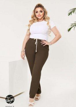 Льняные брюки с поясом-канатом