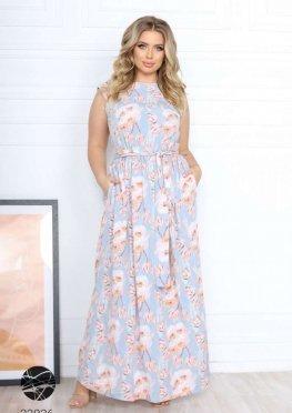 Платье макси с цветочным принтом