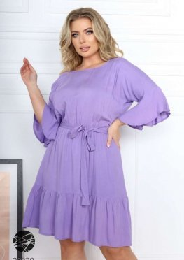 Платье мини с оборками