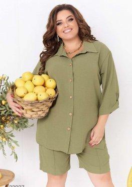 Комплект из рубашки и шорт-бермудов
