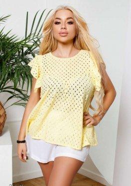 Блуза с перфорацией