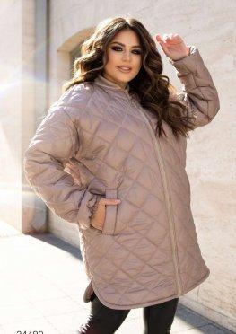 Стеганное пальто свободного кроя