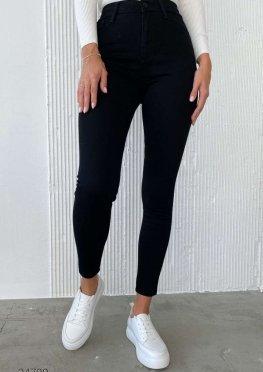 Чорні джинси скіні з високою талією
