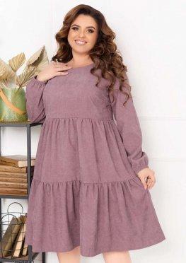 Ярусное вельветовое платье