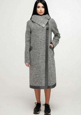 Пальто В-1184 Bouclet Alpaca AGU Тон 105