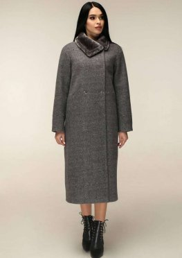 Пальто П-1234 и/м Шерсть пальтовая 4065 Тон 2