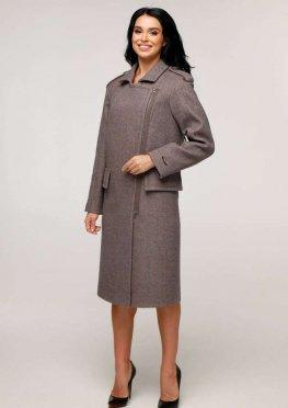 Пальто В-1252 Шерсть пальтовая W7-18145 Тон 24