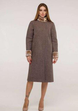 Пальто П-1263 и/м Шерсть пальтовая W7-8232 Тон 3