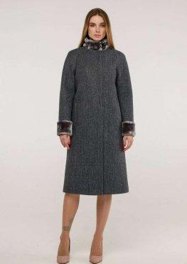 Пальто П-1263 и/м Шерсть пальтовая W7-8232 Тон 6