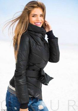 Теплая куртка черная