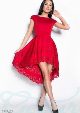 Асимметричное перфорированное платье