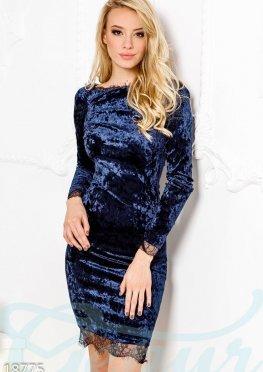 Мраморное бархатное платье
