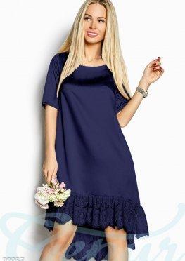 Свободное асимметричное платье