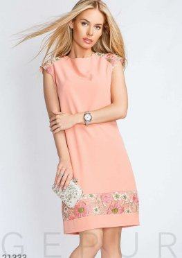 Платье кружевные цветы