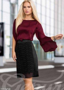 Оригинальная шелковая блуза