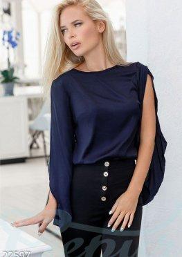 Оригинальная сатиновая блуза