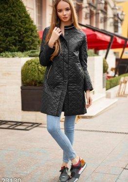 Тонкое стеганое пальто