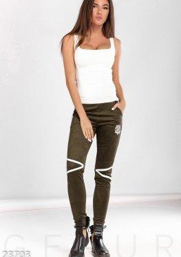 Модные замшевые брюки