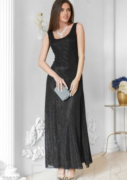 Длинное платье люрекс