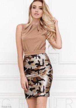 Платье-футляр пайетки