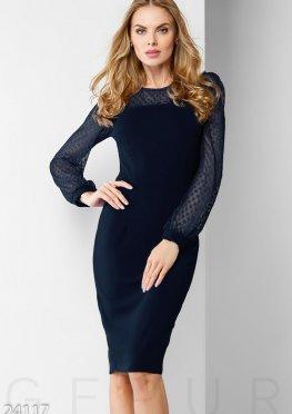 Выразительное коктейльное платье