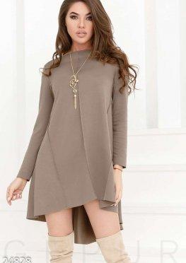 Трикотажное платье-клеш